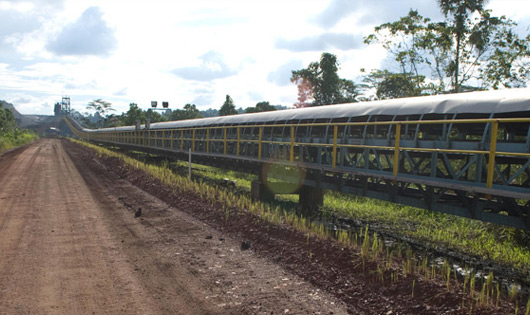 Overland Conveyor  (Distance: 5 km) Capacity:  1,700 mtph